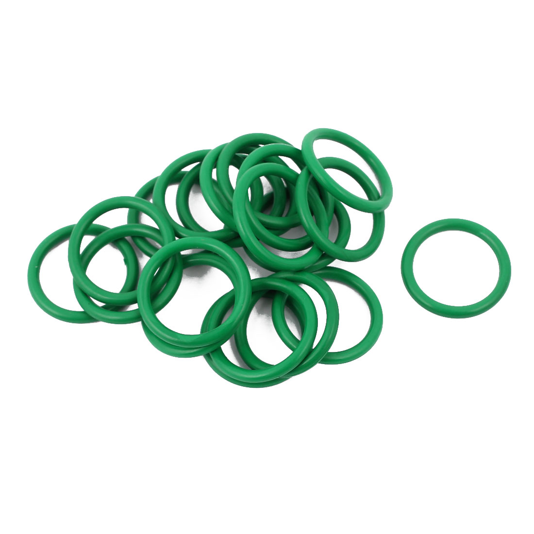 20pcs 1.9mm Thick Heat Resistant Mini Green O-Ring Rubber Sealing Ring 17mm OD