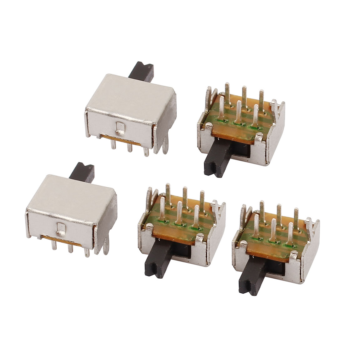 5 Pcs 2 Position Right Angle 6P DPDT Micro Slide Switch Latching Toggle Switch