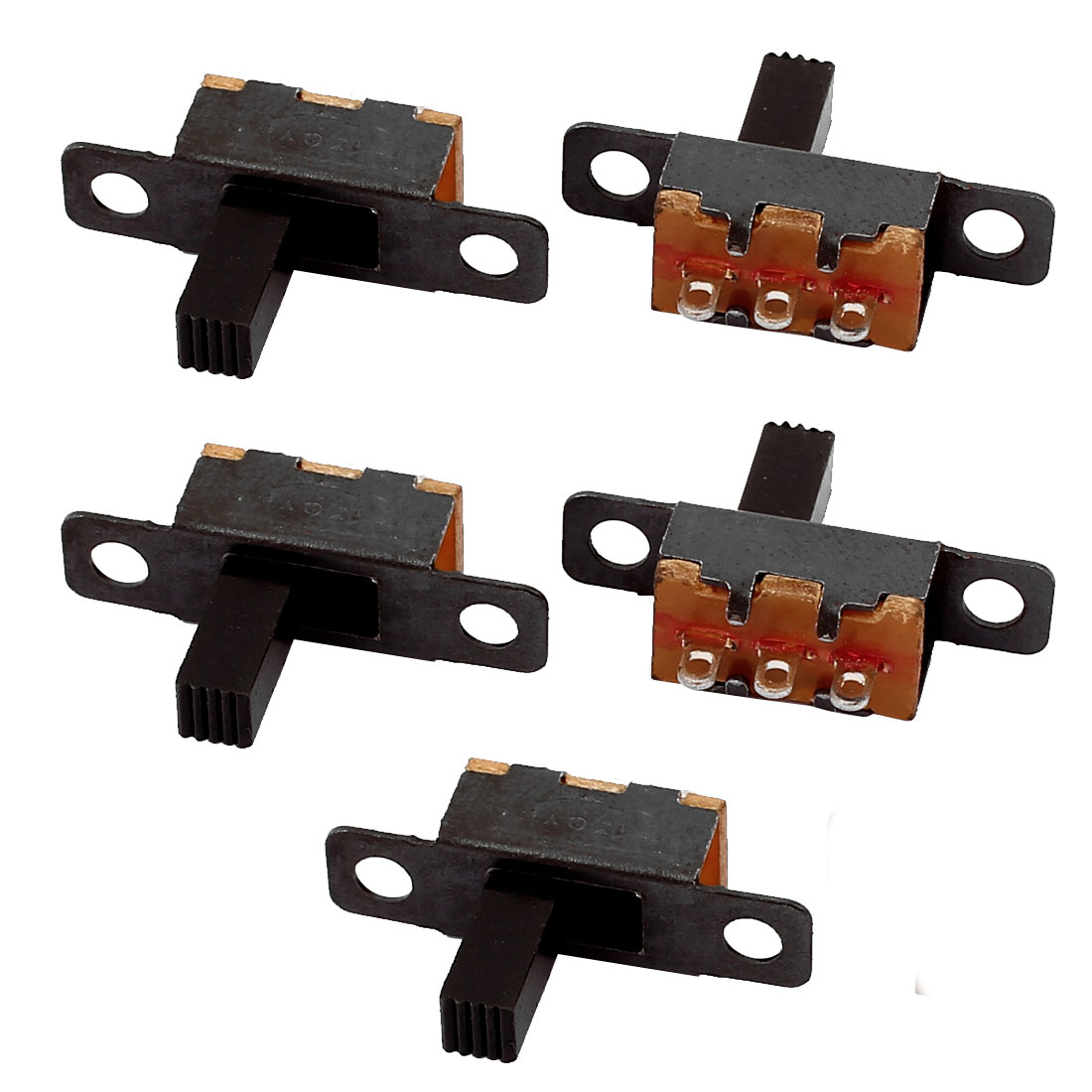 5Pcs 2 Position 3P SPDT Panel Mount Micro Slide Switch Latching Toggle Switch