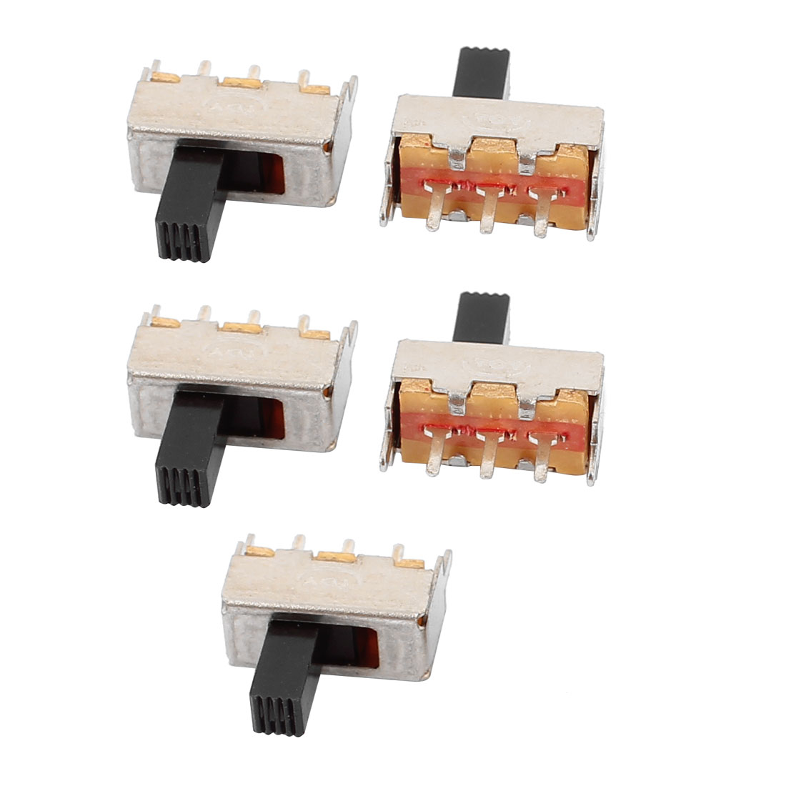 5Pcs 2 Position 3P SPDT Micro Slide Switch Latching Digital Product Switch