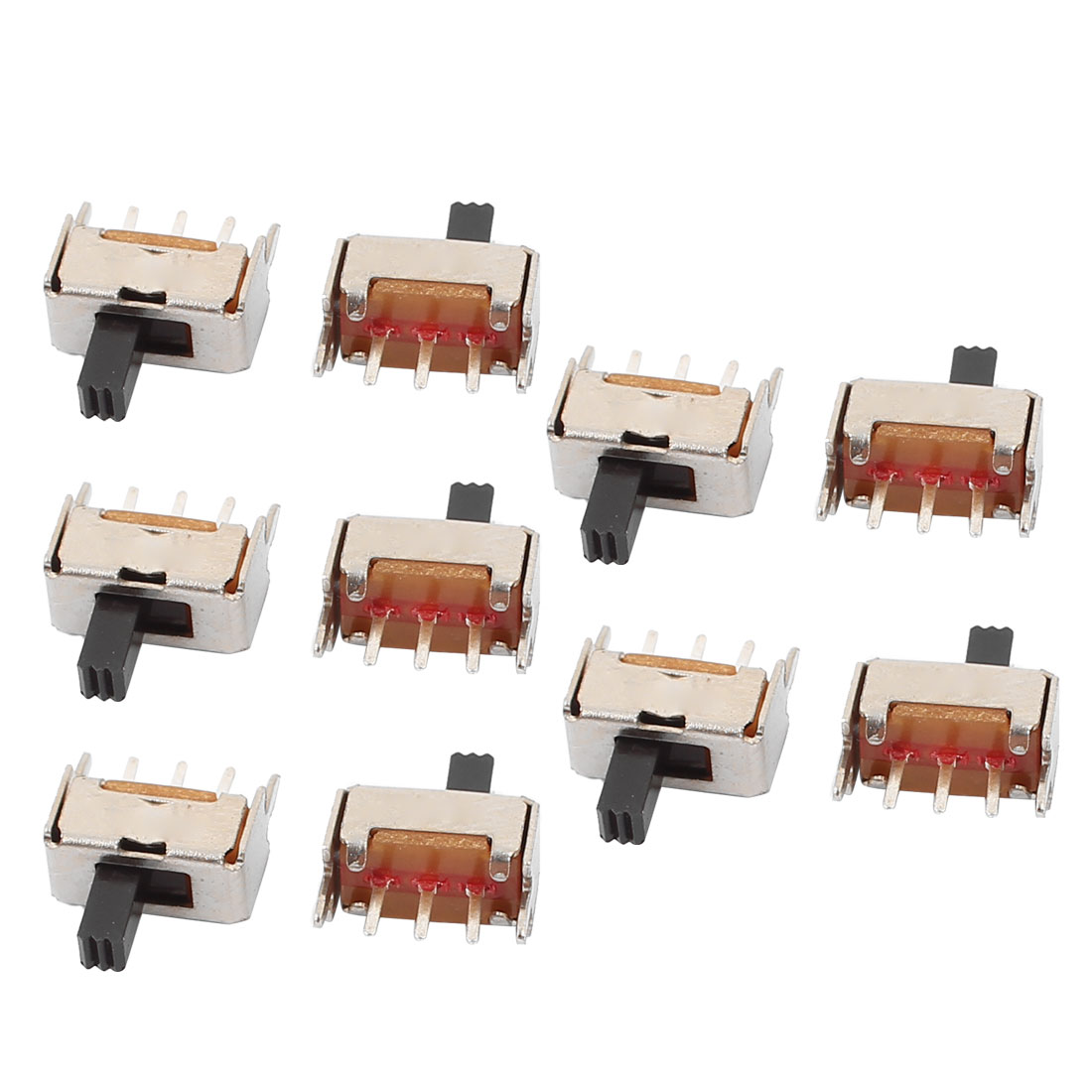 10Pcs DC50V 0.5A 2 Position 3P SPDT Mini Slide Switch Latching Toy Switch