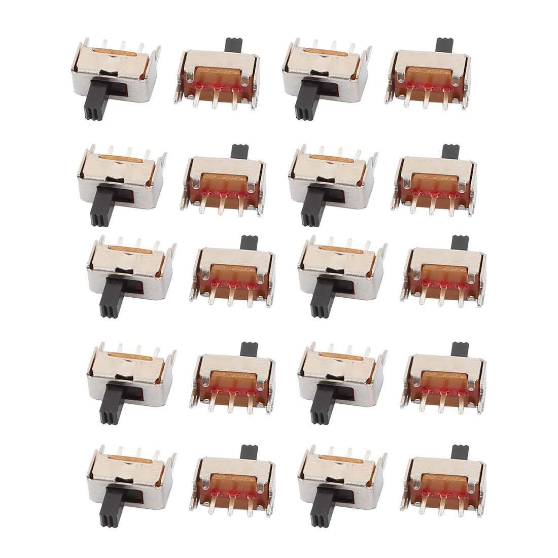 20Pcs DC50V 0.5A 2 Position 3P SPDT Mini Slide Switch Latching Toy Switch