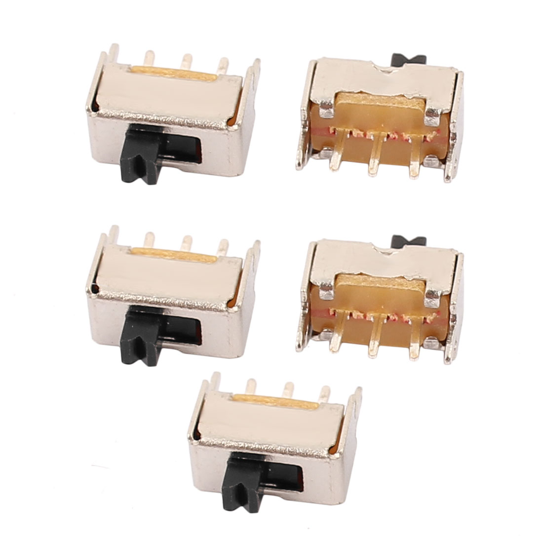 5Pcs SS-12D07 2 Position 3P SPDT Mini Slide Switch Latching Toy Switch
