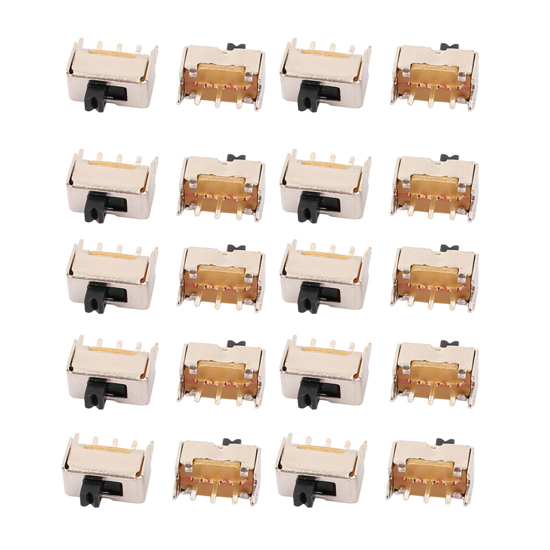 20Pcs SS-12D07 2 Position 3P SPDT Mini Slide Switch Latching Toy Switch