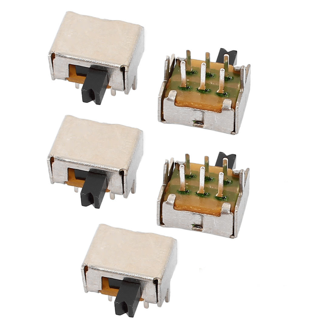 5Pcs 2 Position 6P DPDT Micro Slide Switch Latching Digital Product Switch
