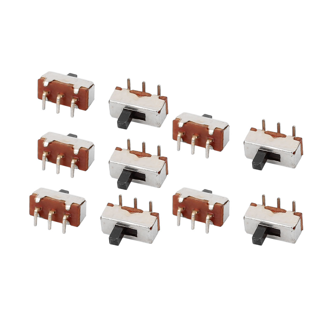10Pcs DC50V 0.5A 2 Position 3 Terminals SPDT Slide Switch Latching Toy Switch