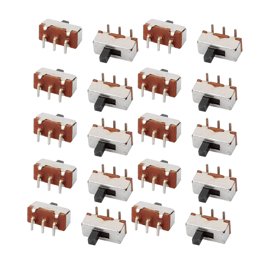 20 Pcs DC50V 0.5A 2 Position 3 P SPDT Micro Slide Switch Latching Toy Switch