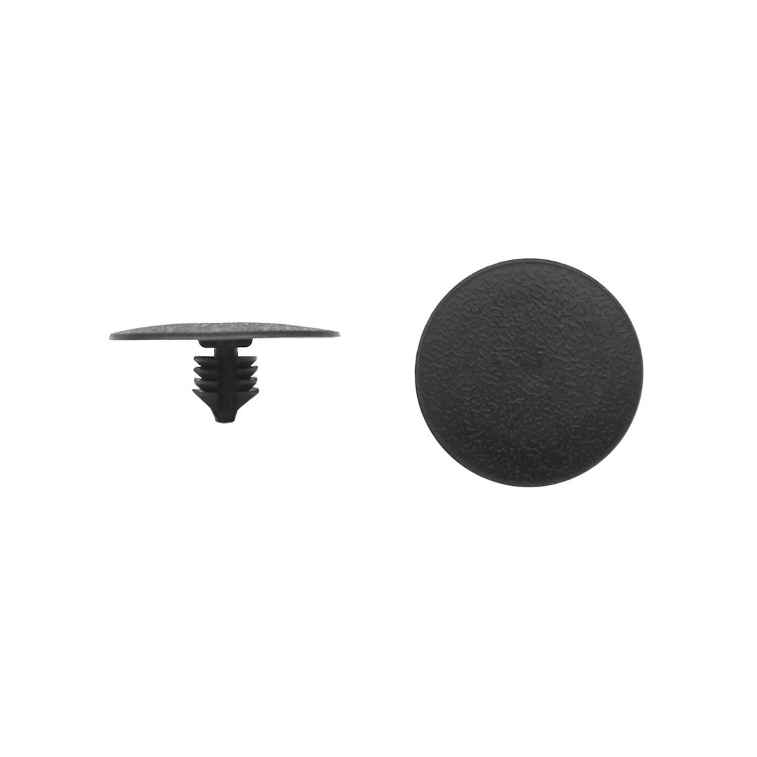 30pcs 8mm Hole Car Plastic Clips Rivet Fit Boot Trim Panel Pin Fender Black