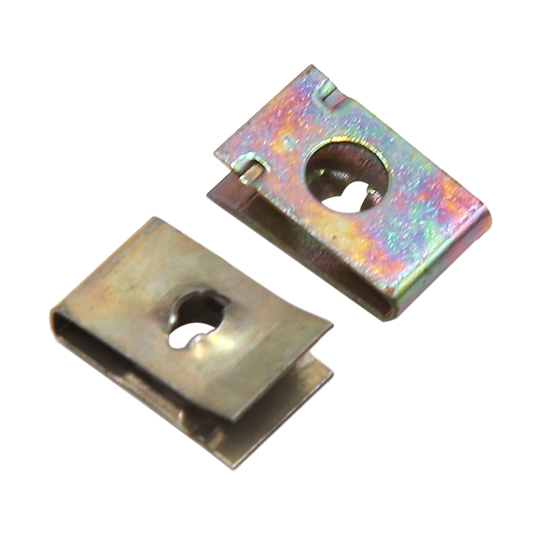 50pcs 6mm Hole Dia Metal Retainer Car Door Pannel Screw U-Type Clips Rivets
