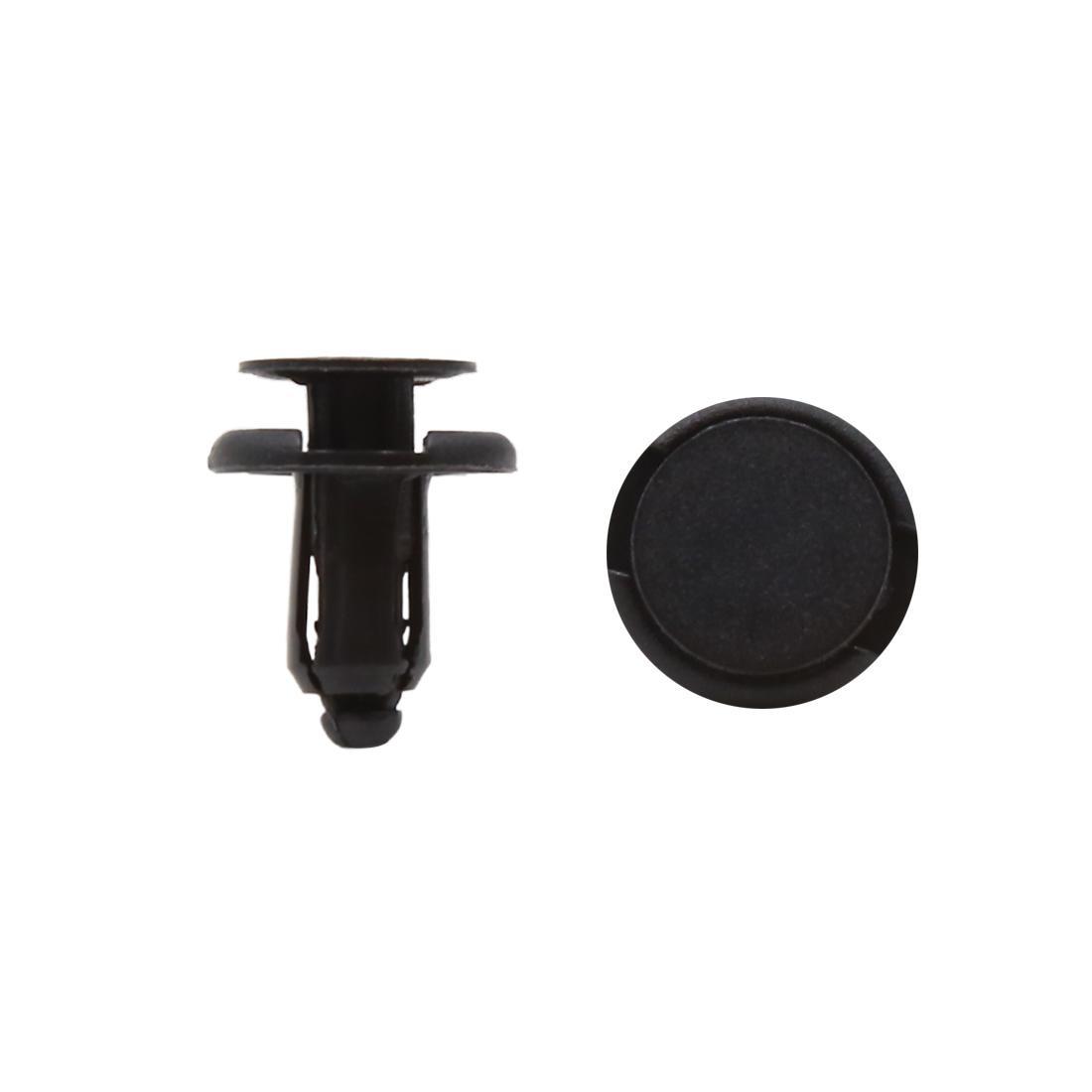 50pcs 8mm Hole 17.5mm Head Plastic Rivets Fastener Push Clips Black for Car