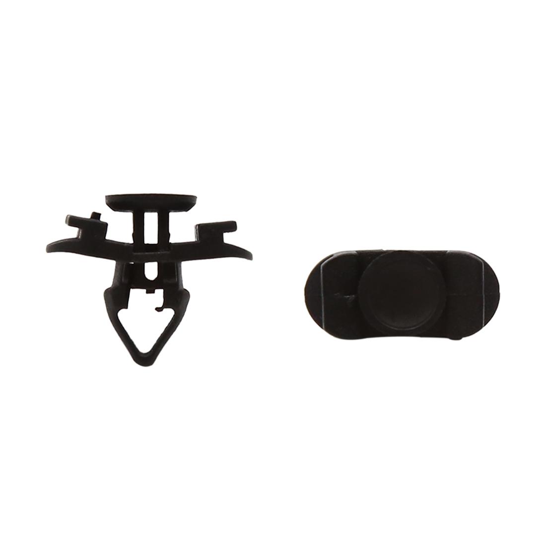 50pcs Black 8mm Hole Dia Plastic Rivets Fastener Retainer Push Type Clips