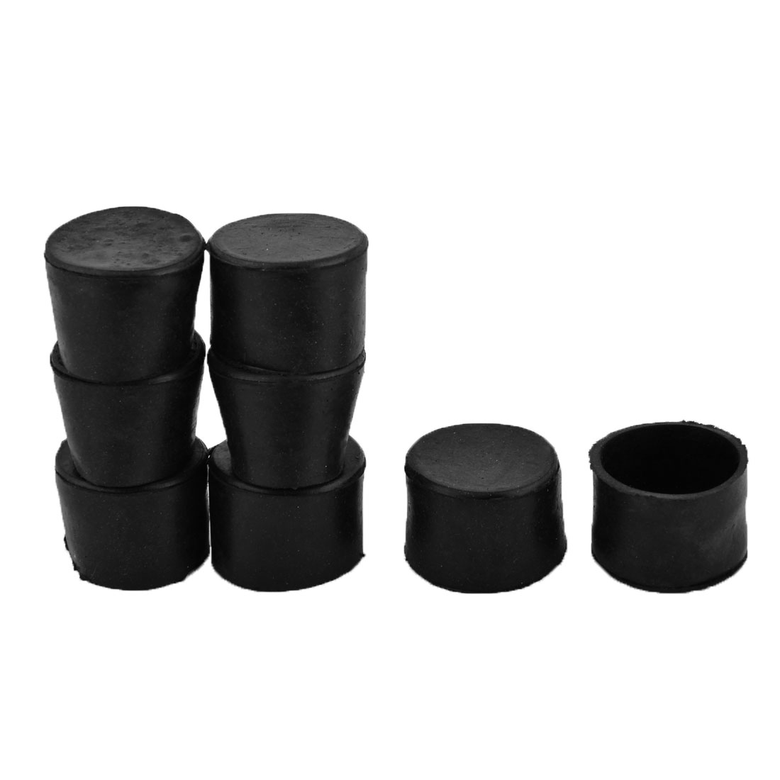 Furniture Rubber Round Leg Foot Cover Holder Protector Black 45mm Inner Dia 8pcs
