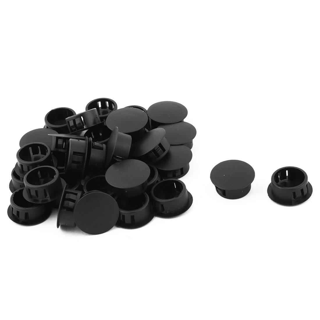 Plastic Round Design Chair Leg Protector Hole Stopper 20mm Diameter 32pcs