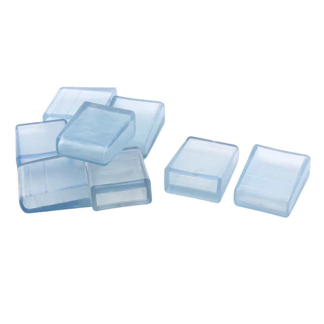 Home Rubber Furniture Foot Cover Pad Cushion Protector Clear Blue 9 x 31mm 8pcs