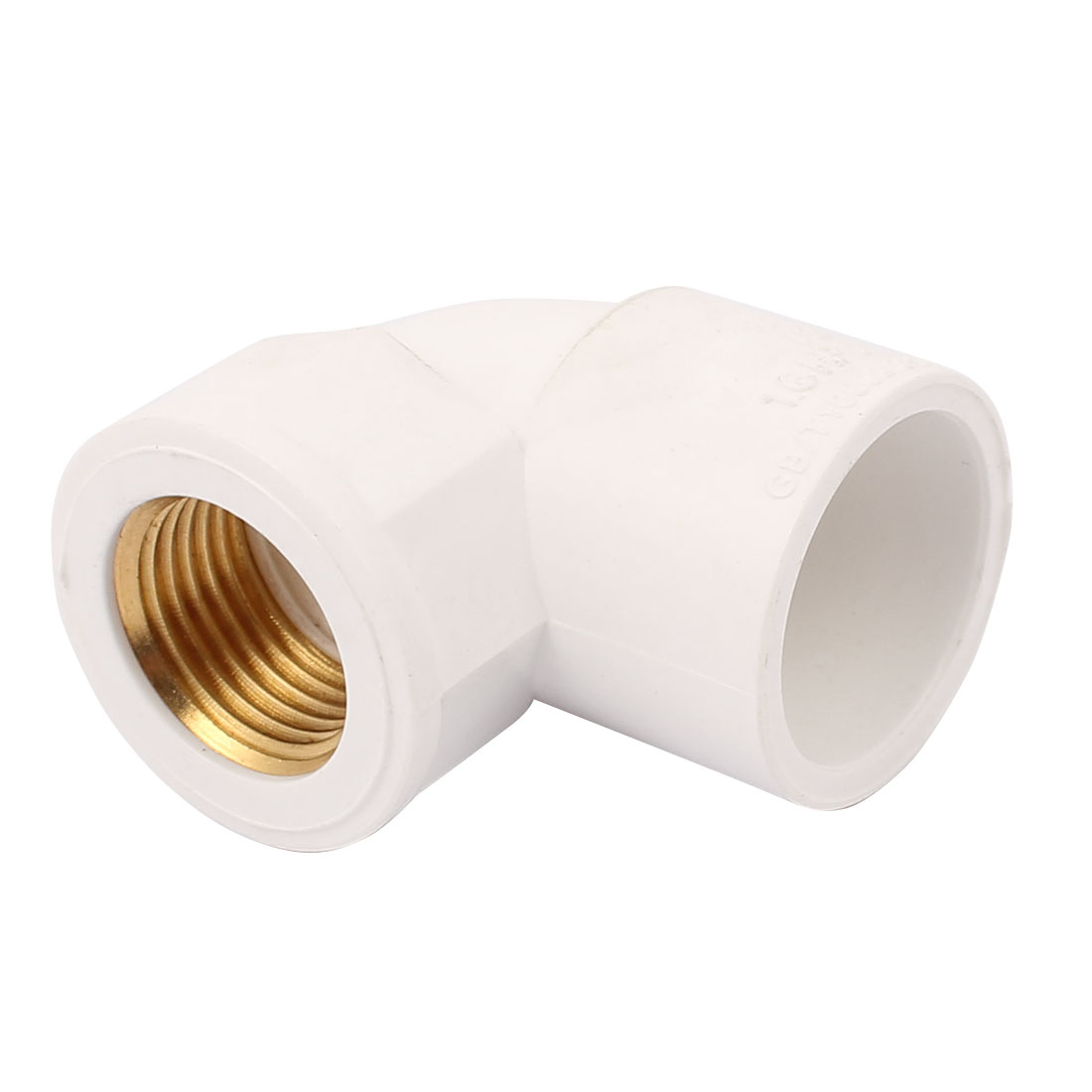 25mm to 20mm Female Copper Thread Right Angle Elbow Fitting Connector White