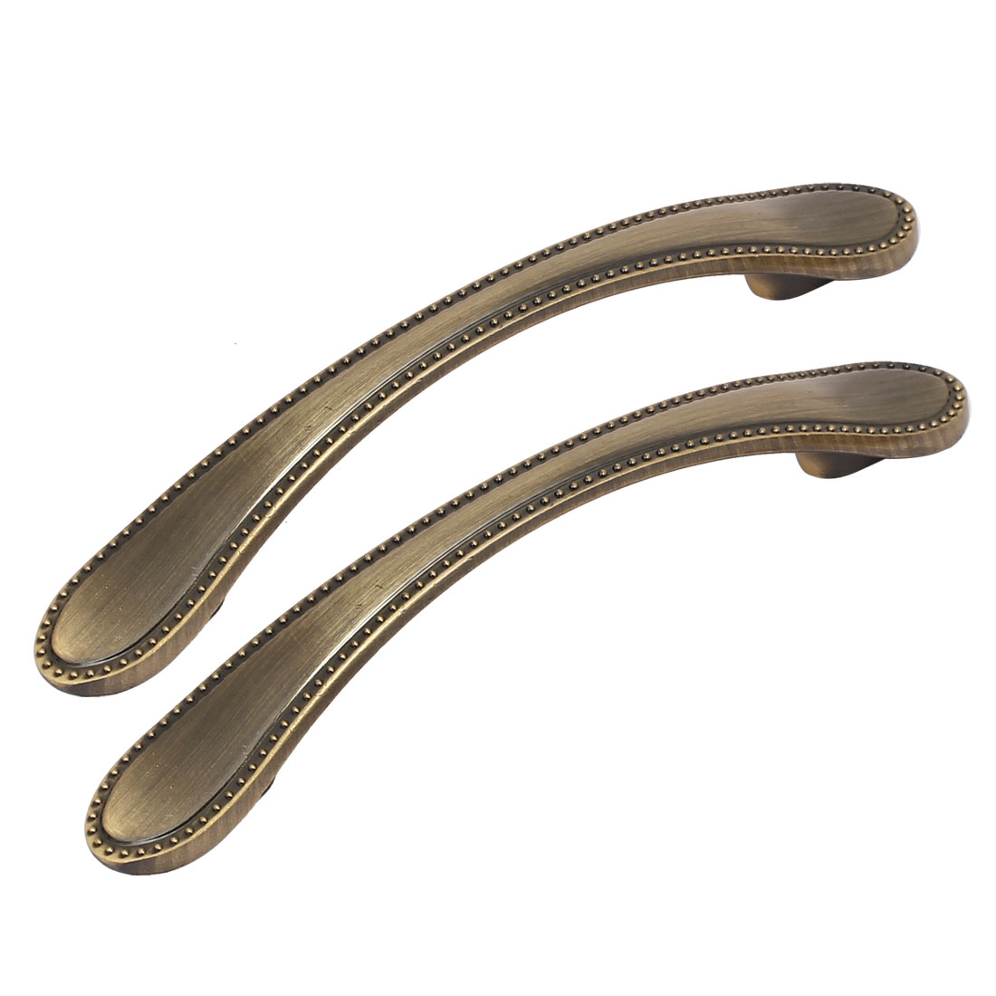 Home Office Metal Pull Handle Grasp Bronze Tone 96mm Hole Spacing 2pcs