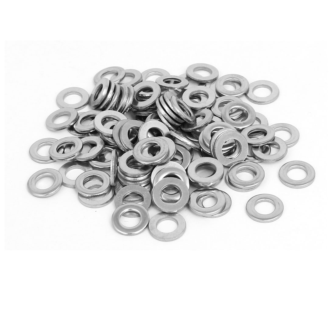 M6x12mmx1.6mm 316 Stainless Steel Flat Washers Gasket Fastener 100pcs