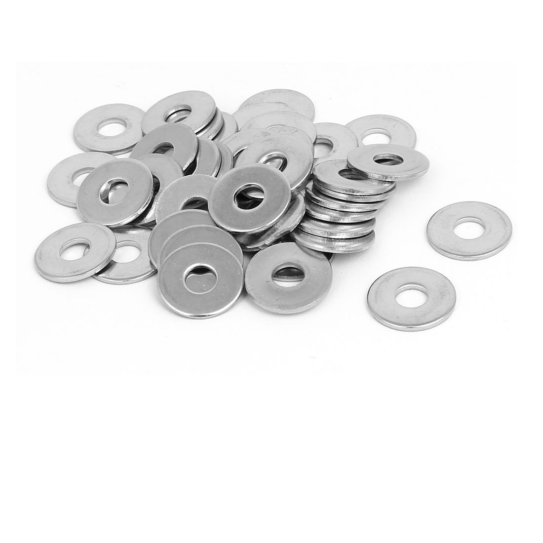 M6x18mmx1.5mm 316 Stainless Steel Flat Washers Gasket Fastener 40pcs