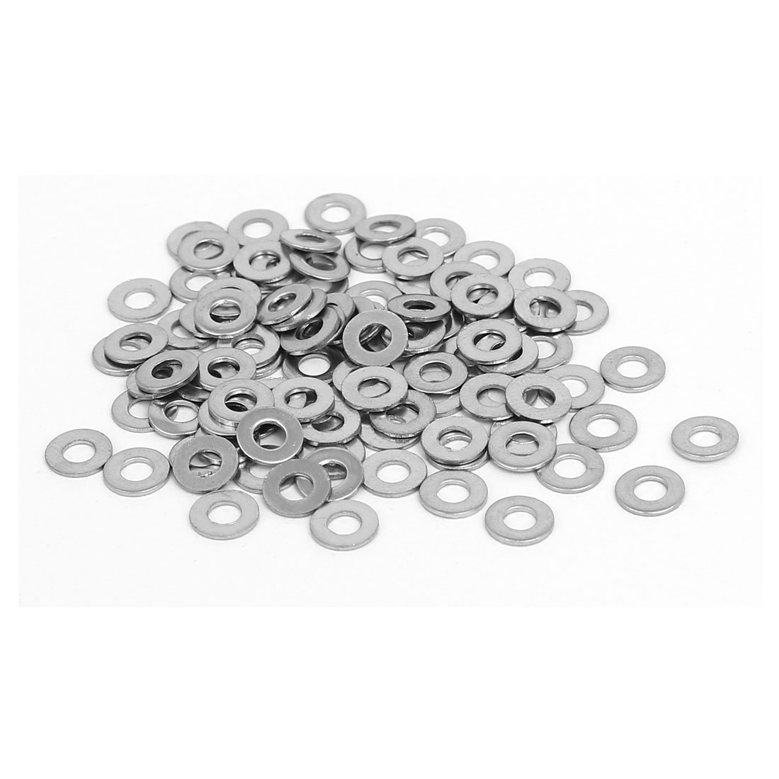 M2.5x6mmx0.5mm 316 Stainless Steel Flat Washers Gasket Fastener 100pcs