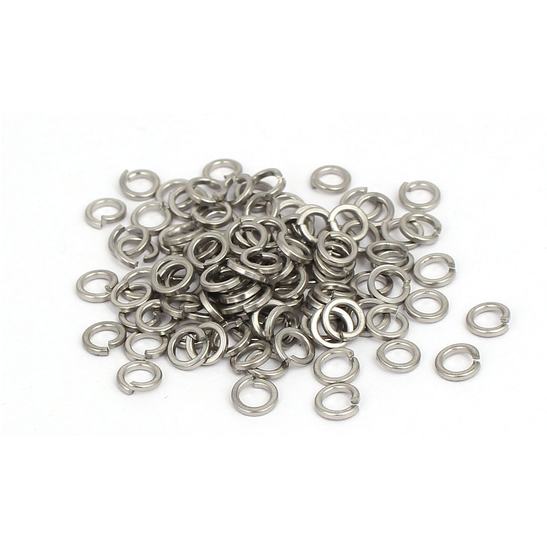 M3 Inner Diameter 316 Stainless Steel Split Lock Spring Washers Gasket 100pcs