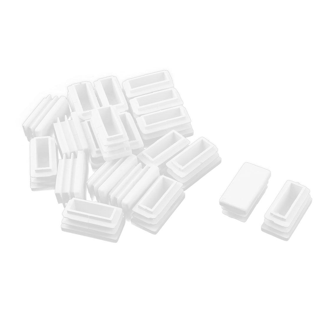 Table Chair Leg Feet Plastic Tube Pipe Insert End Cap White 1.4cm x 2.9cm 20pcs