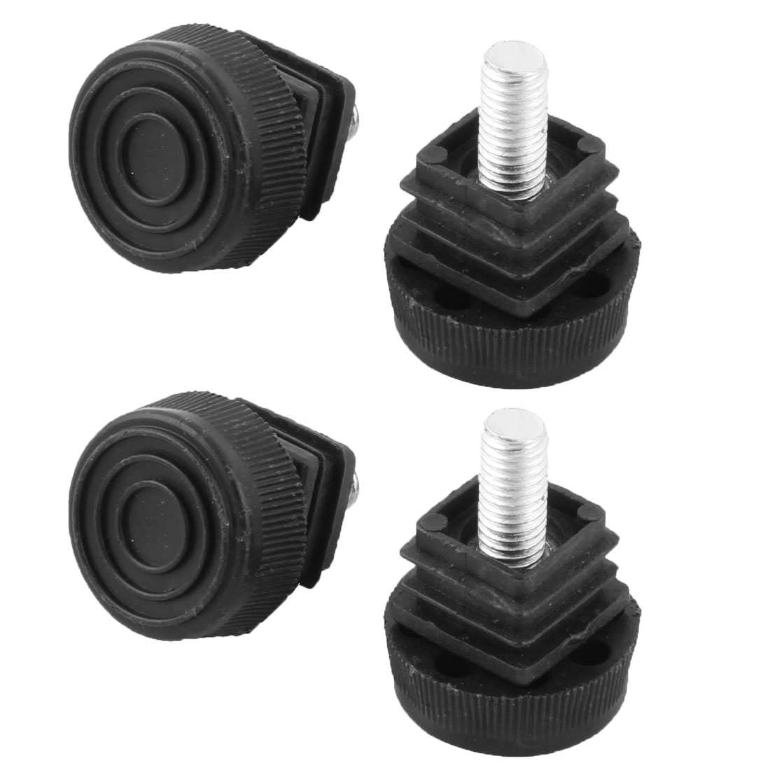 Plastic Chair Protector Adjustable Leveling Foot Tube Insert 4 Pcs