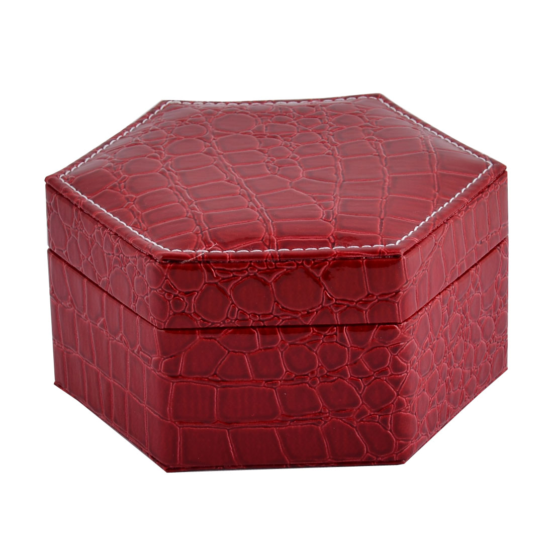 Home Travel Cosmetics Jewelry Bead Display Case Holder Storage Box Casket Red