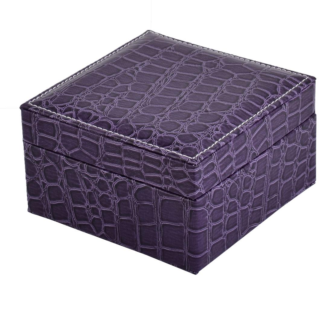 Home Travel Cosmetics Jewelry Bead Display Case Holder Storage Box Casket Purple