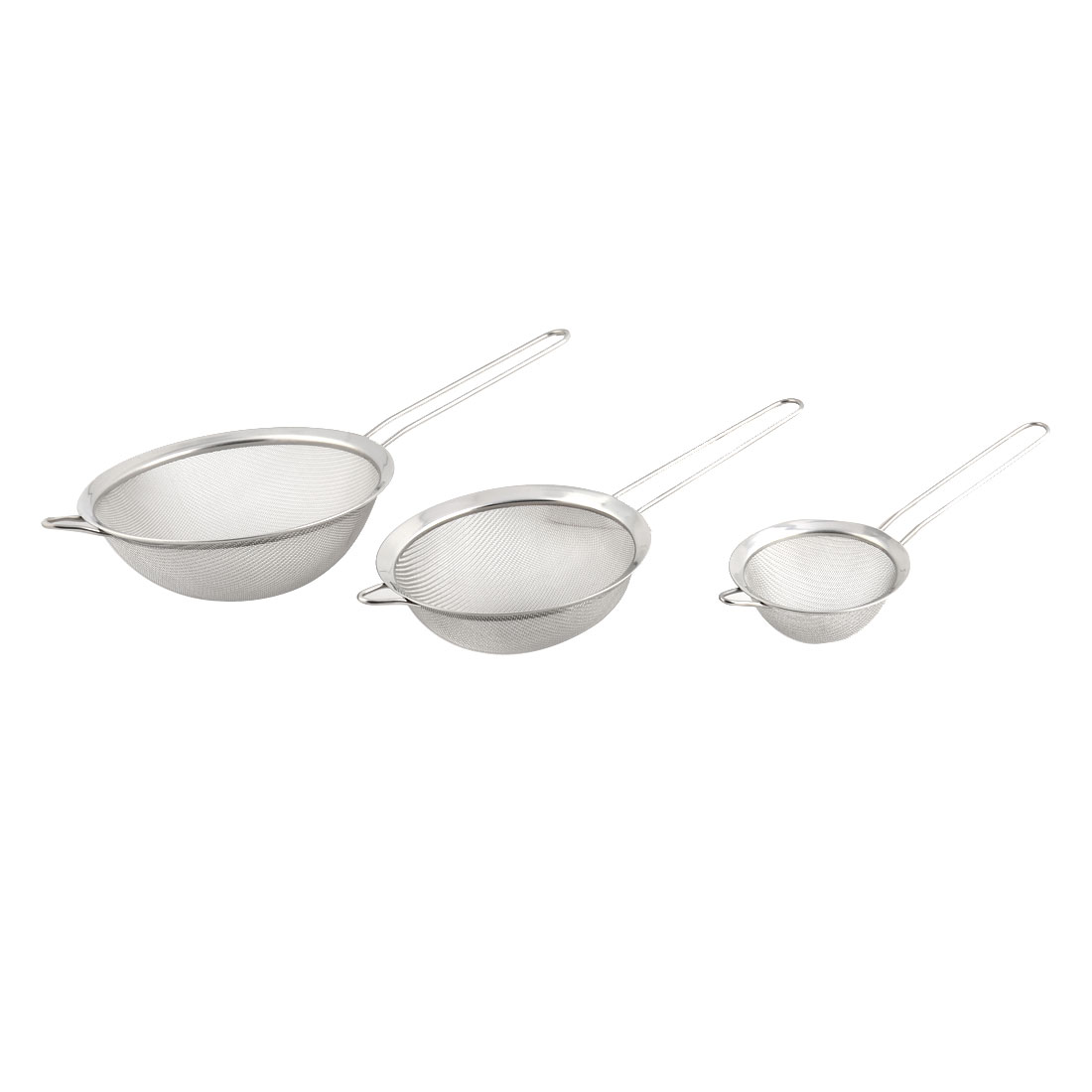 Apartment Metal Oil Flour Cooking Mesh Strainer Colander Sieve Sifter 3 in 1