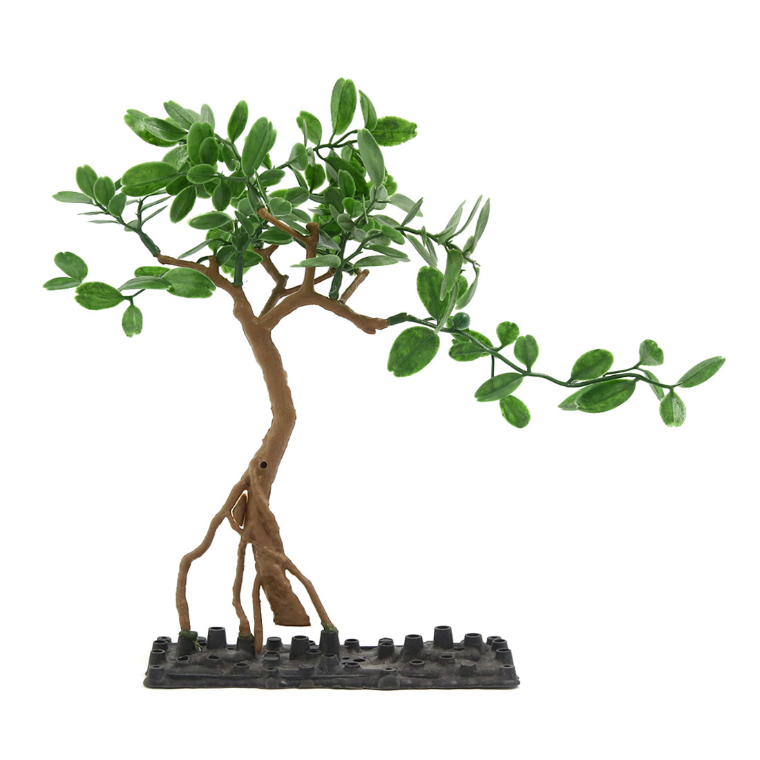 Fish Tank Green Tree Decor Ornament With Plastic Base 16x6x26cm