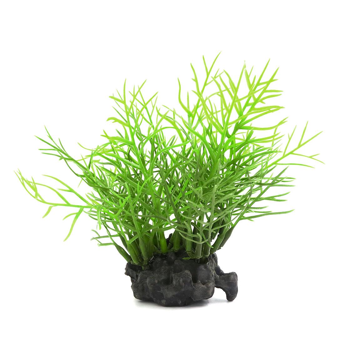 Small Fish Tank Artificial Green Plants Ornament 10x3x11cm