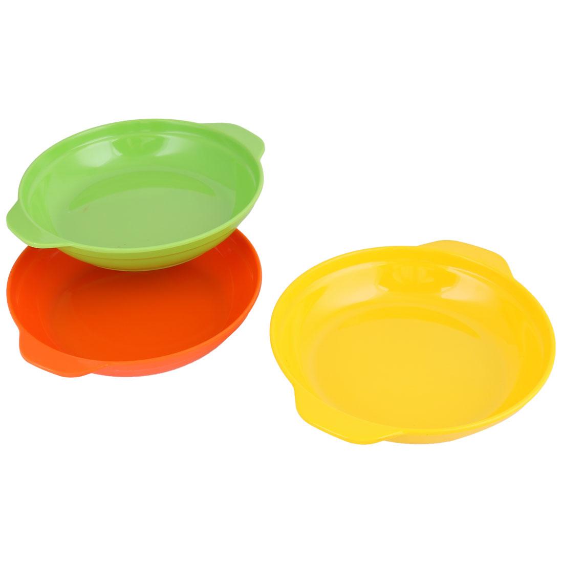 Kitchen Tableware Plastic Serving Dinner Tray Food Fruit Nuts Holder Plate 3pcs