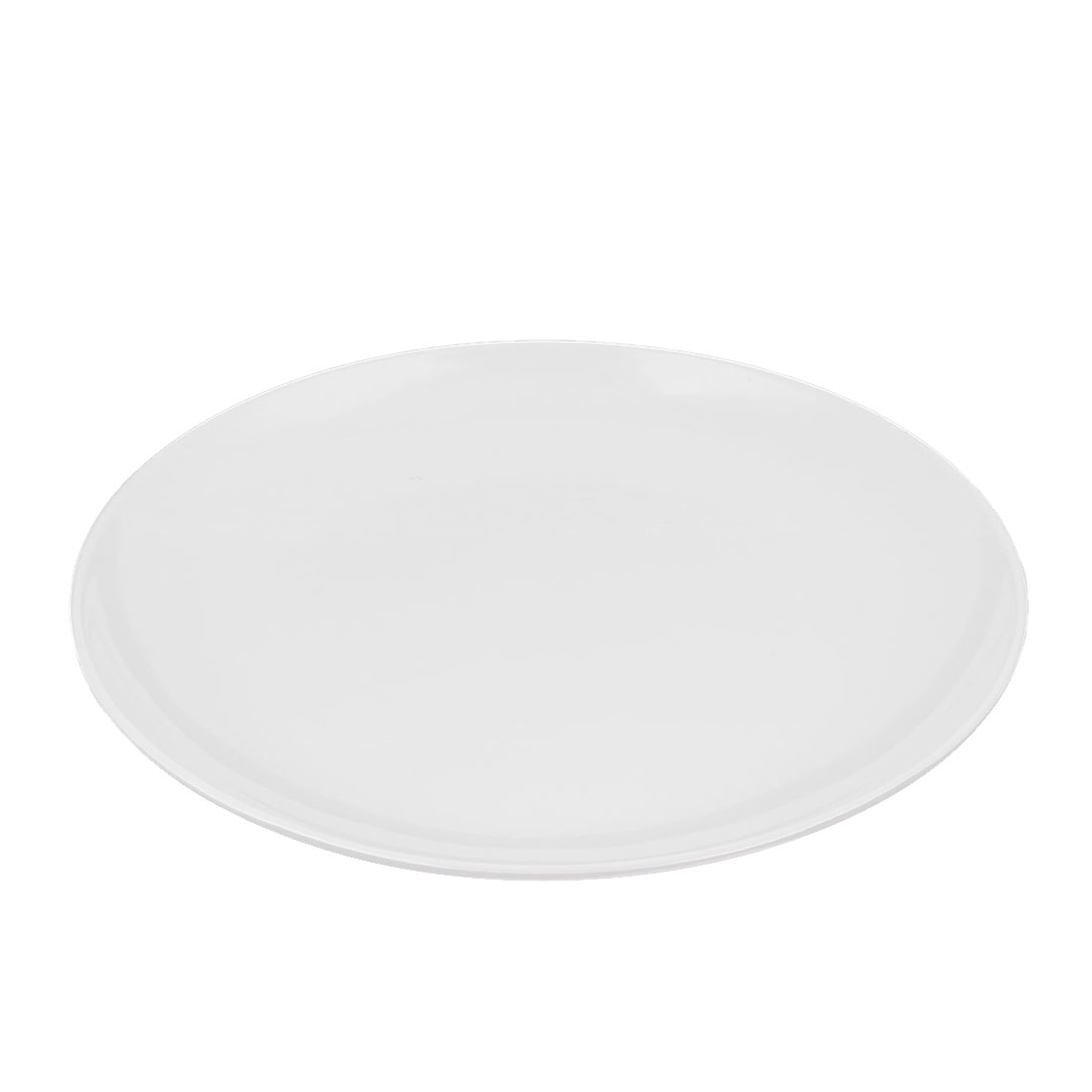 Dinnerware Plastic Round Shape Dish Food Container Plate White 25.5 x 2.5cm