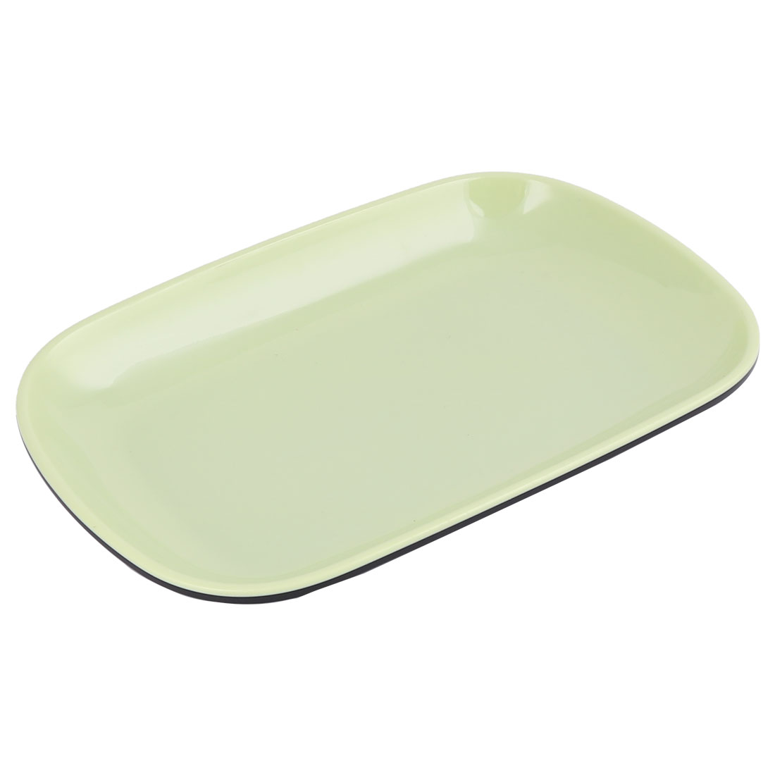 Kitchen Plastic Oval Shaped Food Fruit Vegetable Storage Plate Tray Dish Green
