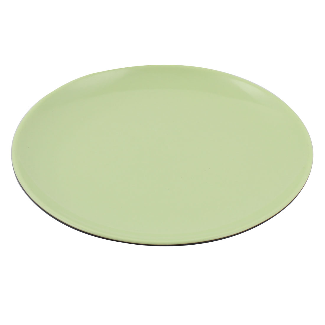 Home Plastic Round Dinnerware Cooking Tool Food Dish Plate Green 22.5cm x 2cm