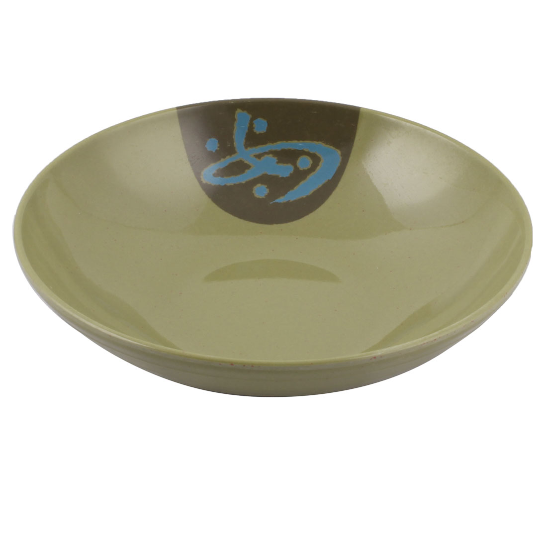 Household Dinnerware Plastic Round Food Noodle Soup Salad Holder Bowl Army Green
