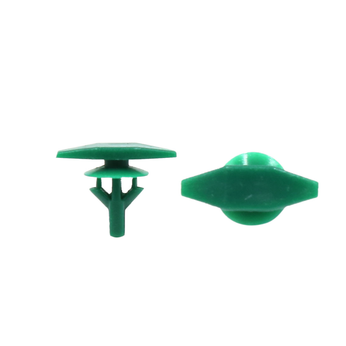 20Pcs Green 6mm Hole Dia Screw Fastener Rivet Bumper Hood Fender Clips for Car