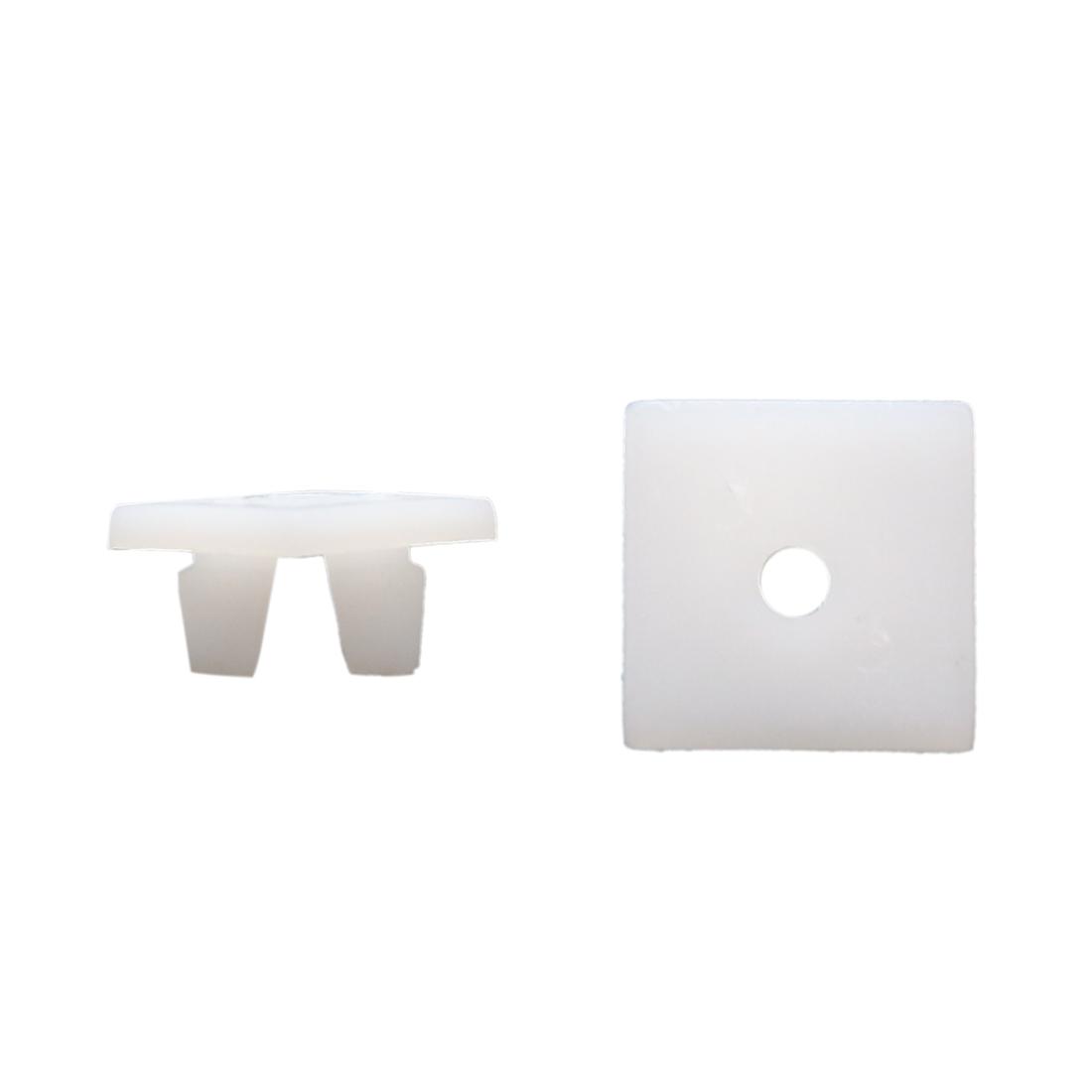 30pcs 13mm Car Plastic Push Type Rivet Retainer Fastener Bumper Pin Clips White
