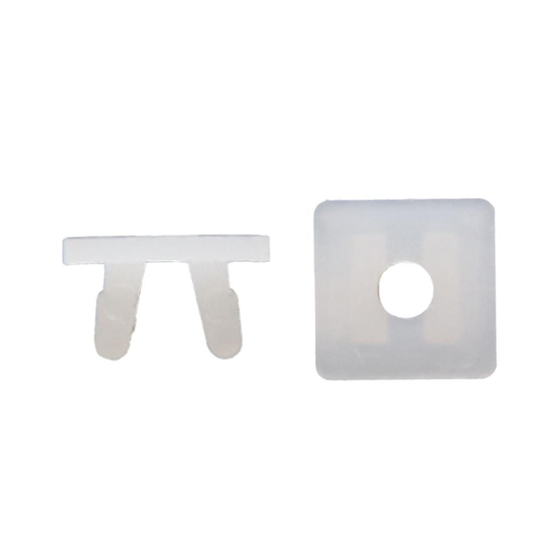 20pcs 9 x 8mm Hole Plastic Rivet Mud Flaps Fender Push Clips White for Vehicle