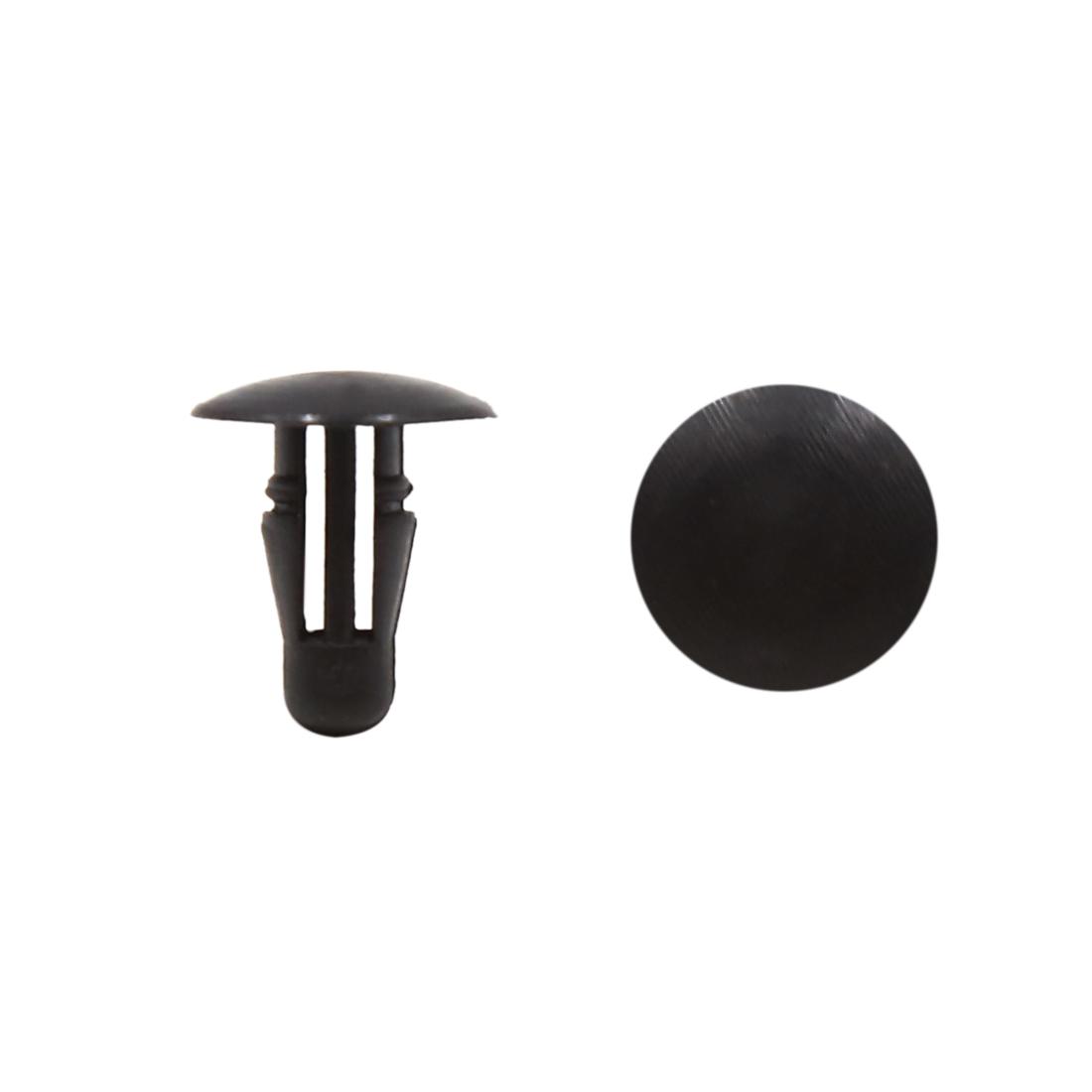 100Pcs 6mm Hole Plastic Rivets Bumper Fender Fastener Retainers Clips Black