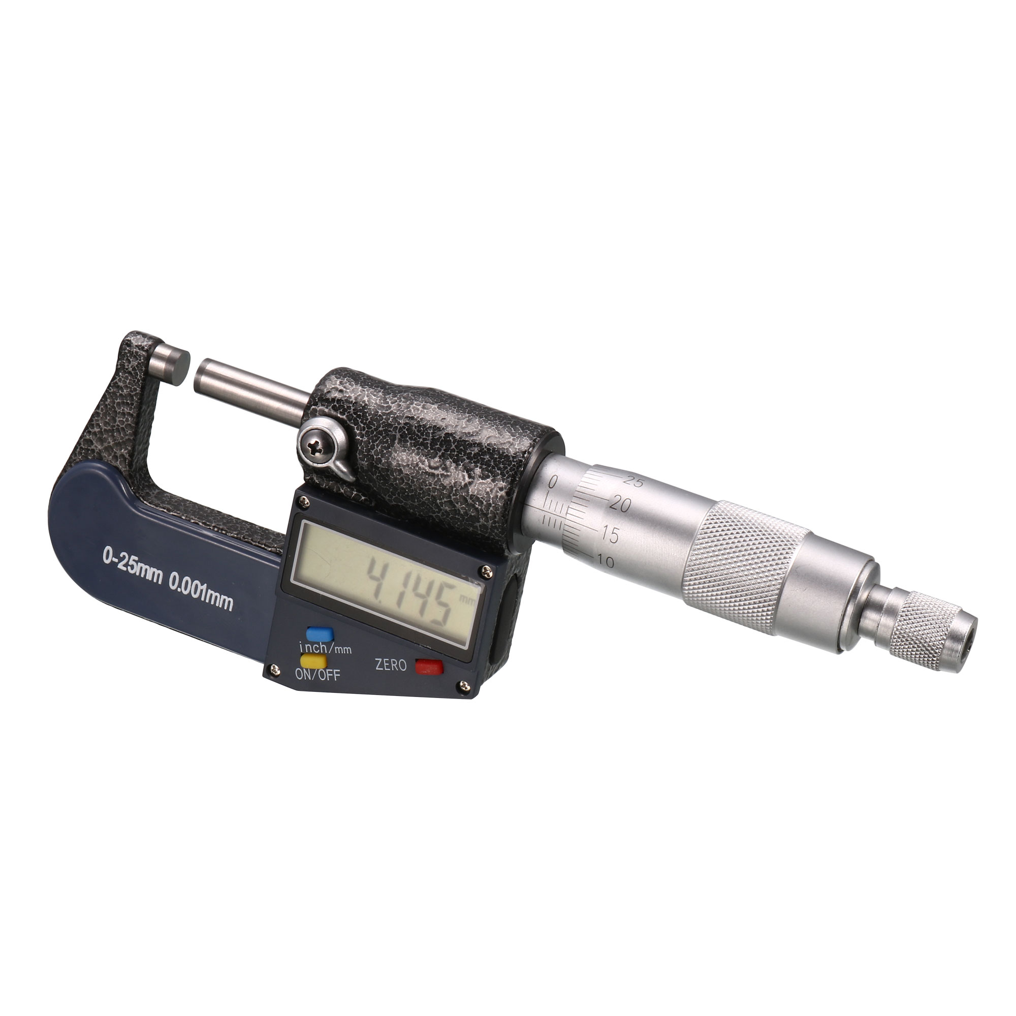 1-inch/25mm Digital Outside Micrometer w Calibration, Electronic LCD Display