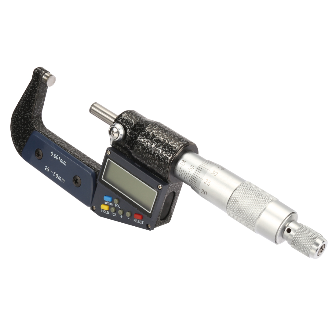 1-inch - 2-inch /25mm-50mm Digital Digimatic Outside Micrometer w Calibration, Electronic LCD Display