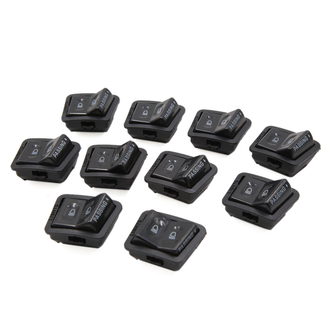 10pcs 12-24V 4 Terminals Hi/lo Lamps Change Motorcycle Light Switch for GY6125