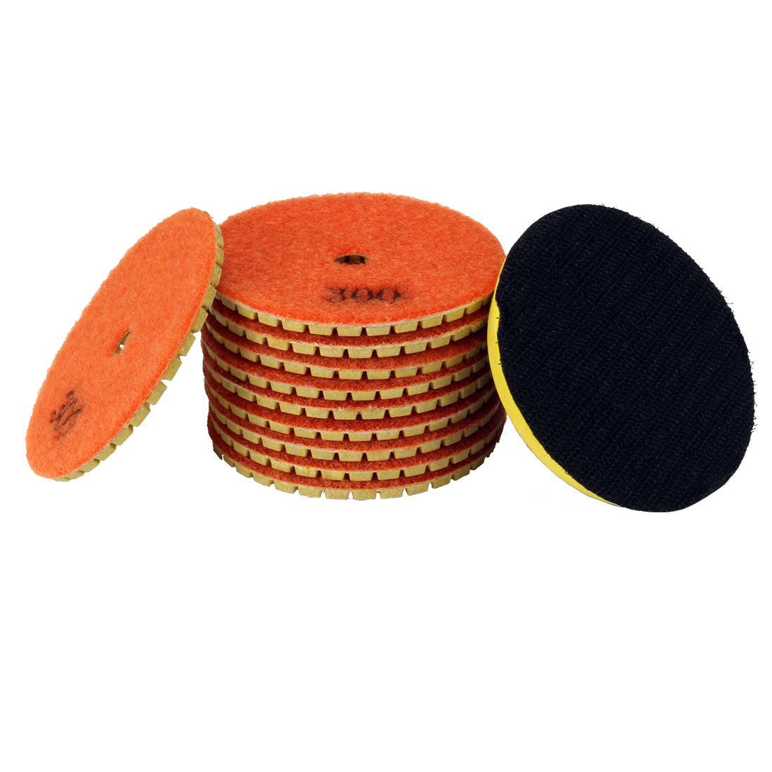 3-inch Diamond Wet Polishing Pad Disc Grit 300 10pcs for Granite Concrete Marble