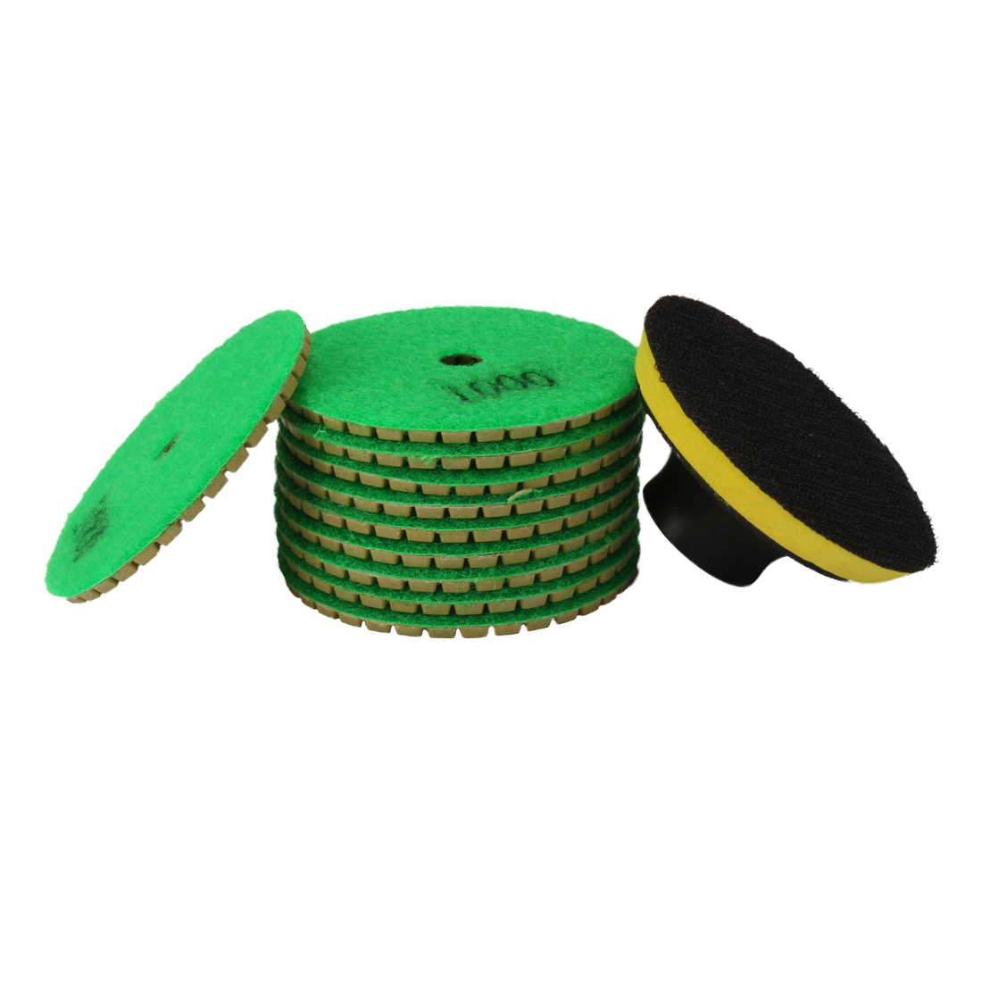 3-inch Diamond Wet Polishing Pad Disc Grit 1000 10pcs for Granite Concrete Stone