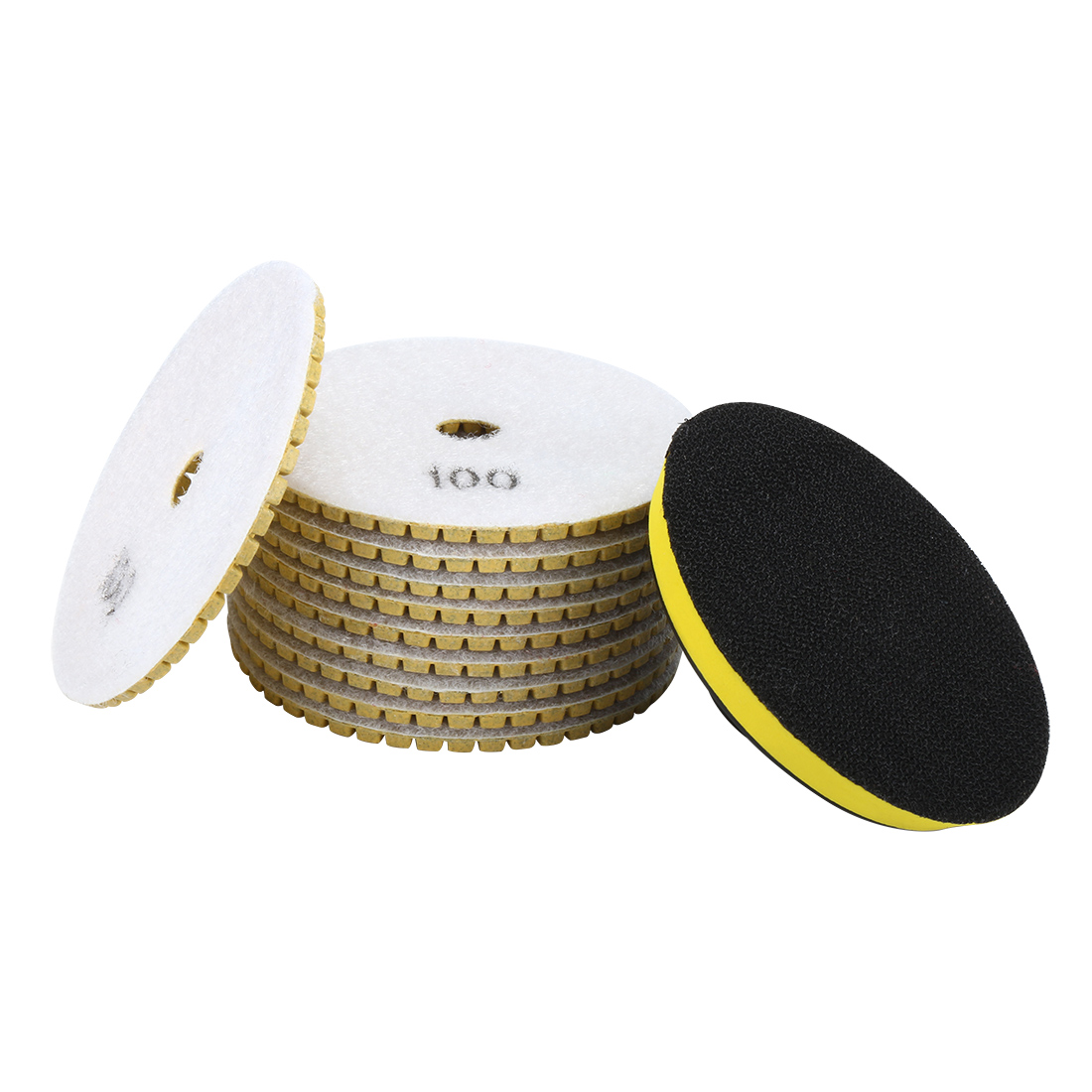 "4"" Diamond Wet Polishing Pad Disc Grit 100 10pcs for Granite Concrete Marble"