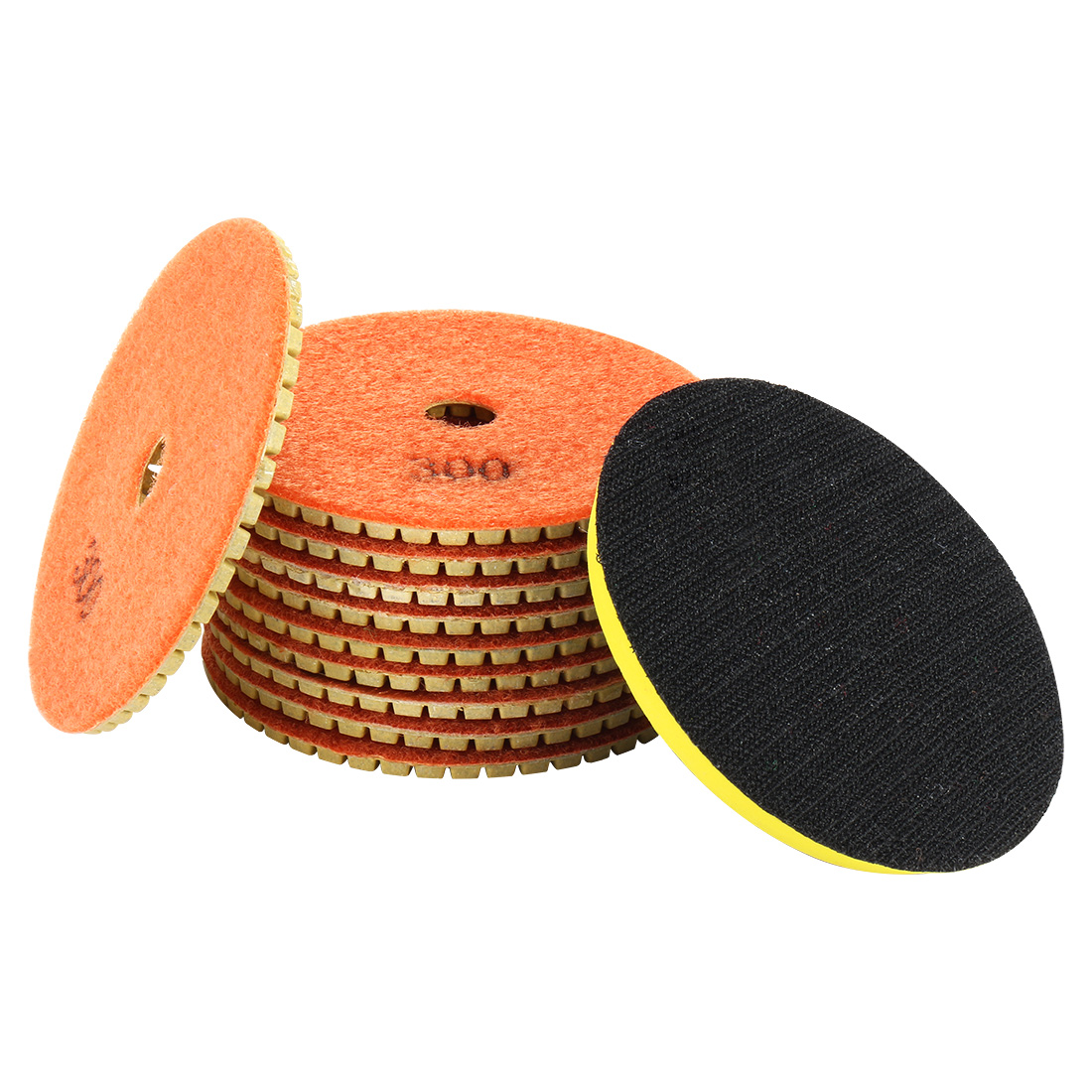 "4"" Diamond Wet Polishing Pad Disc Grit 300 10pcs for Granite Concrete Marble"