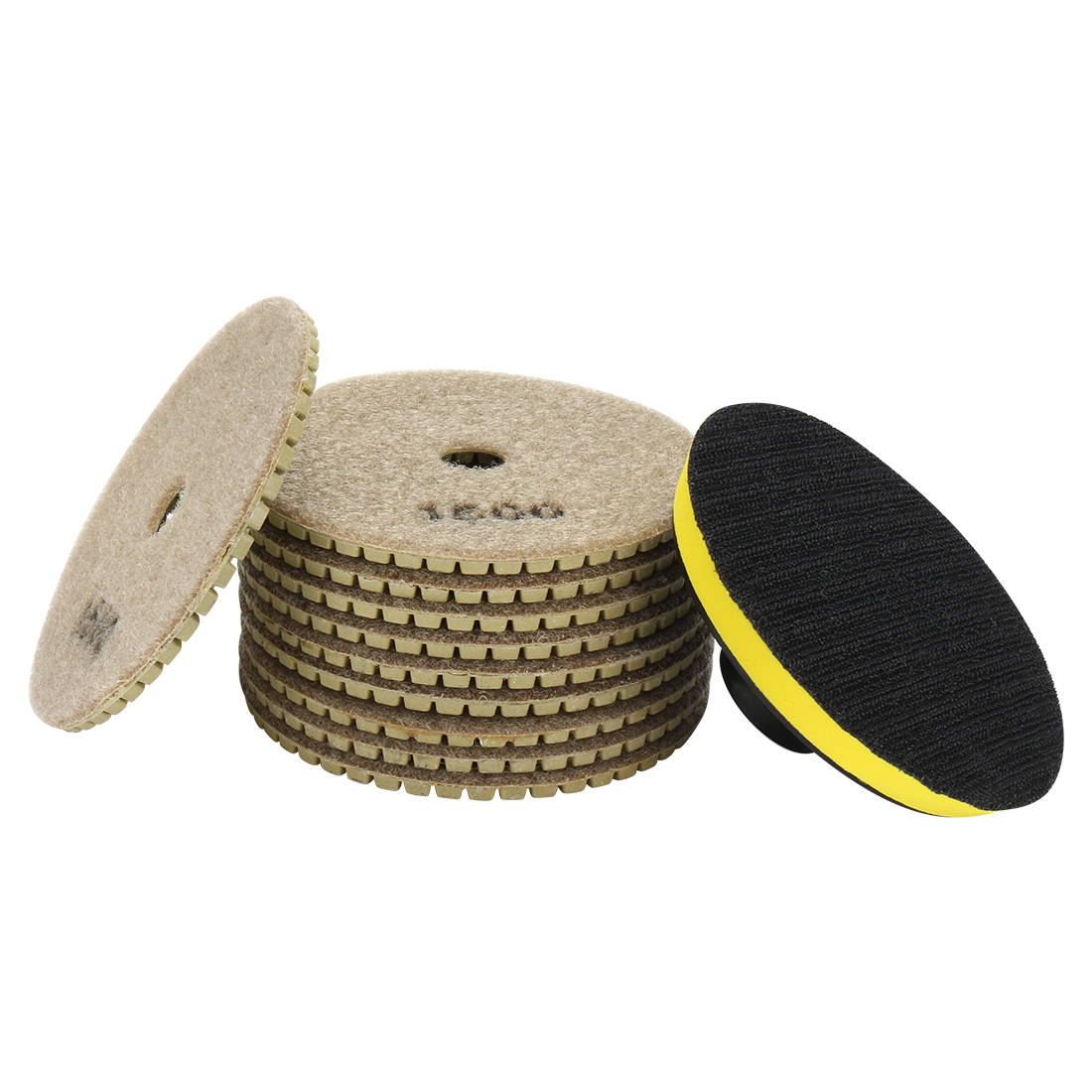 "4"" Diamond Wet Polishing Pad Disc Grit 1500 10pcs for Granite Concrete Marble"