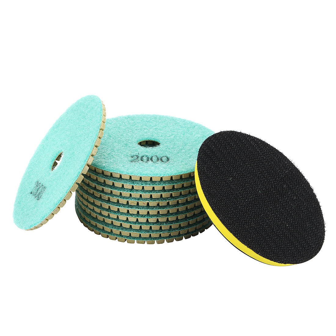 "4"" Diamond Wet Polishing Pad Disc Grit 2000 10pcs for Granite Concrete Marble"