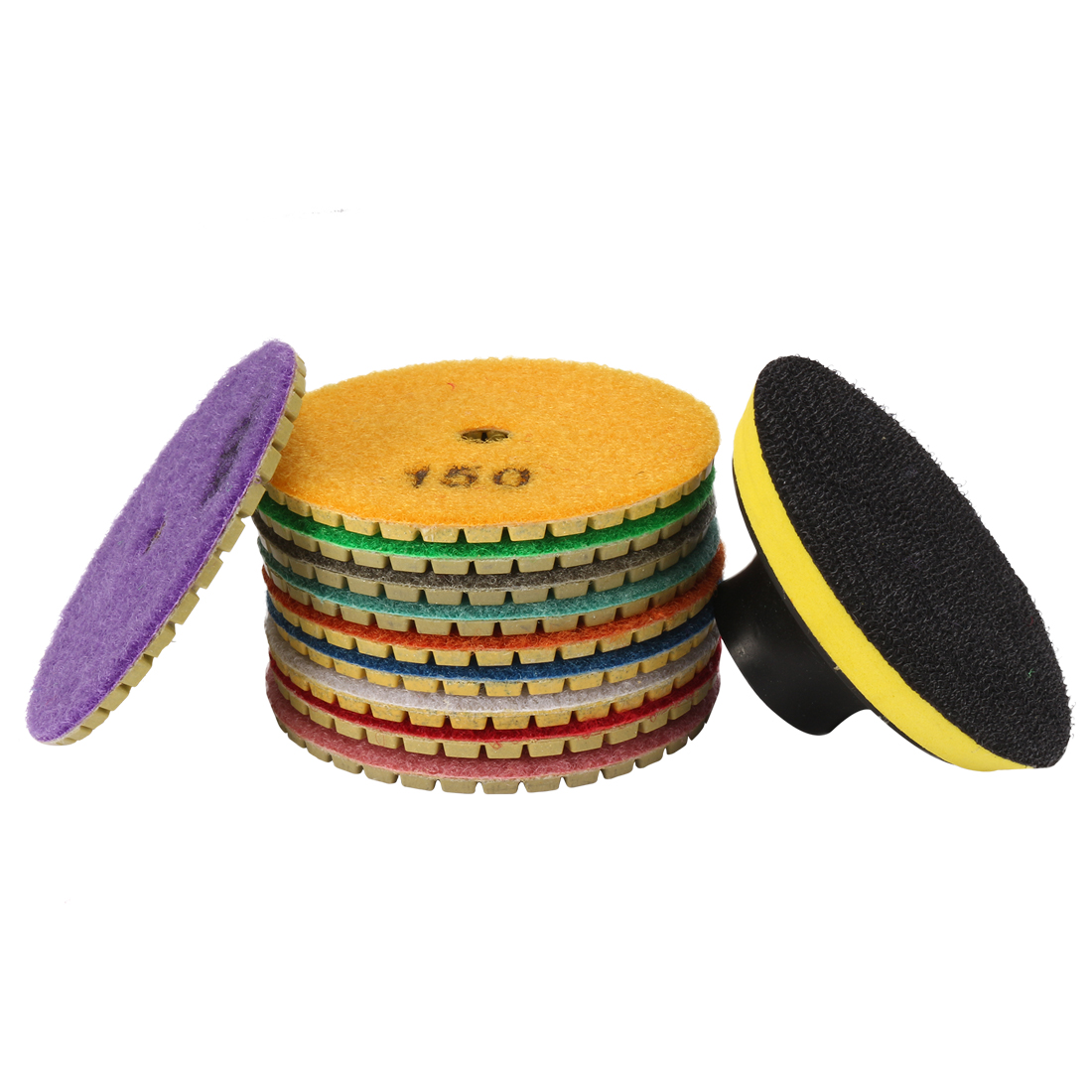 3-inch Diamond Wet Polishing Pad Disc 10 in 1 for Granite Stone Concrete Marble